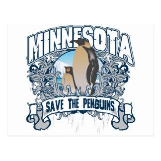 Pingüino Minnesota Tarjetas Postales
