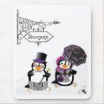 Pingüino Mousepad de Steampunk Tapetes De Ratón