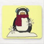 Pingüino Mousepad del navidad Tapetes De Ratón