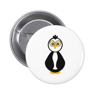 Pingüino Nerdy lindo Pin