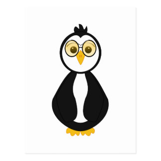 Pingüino Nerdy lindo Tarjetas Postales