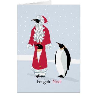 Pingüino Noel Tarjetón