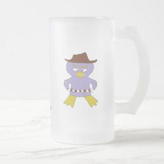 Pingüino occidental del dibujo animado tazas de café