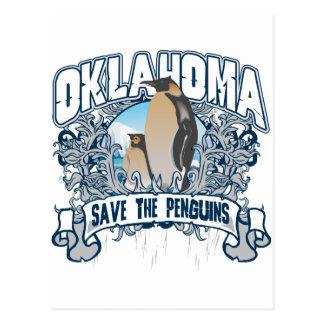 Pingüino Oklahoma Tarjeta Postal