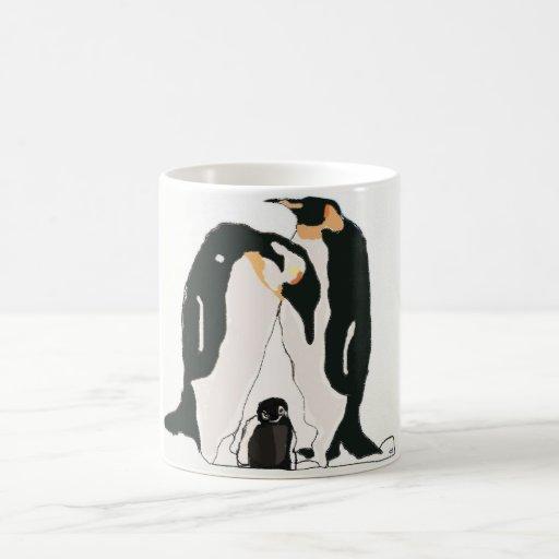 Pinguino-pareja.colour Classic White Coffee Mug