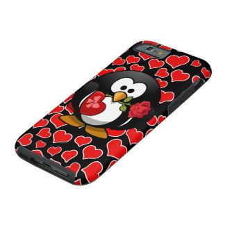 Pingüino pegado amor con los regalos de la tarjeta funda de iPhone 6 tough