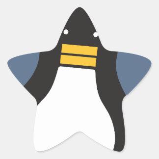 Pingüino Pegatina En Forma De Estrella