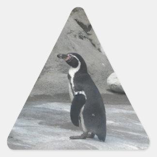 Pingüino Pegatina Triangular