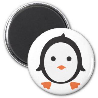 Pingüino - penguin imán redondo 5 cm