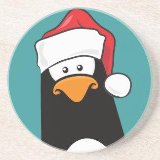 Pingüino pensativo del dibujo animado en el Coa de Posavasos Diseño