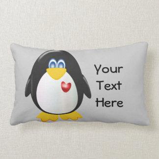 Pingüino personalizado almohadas