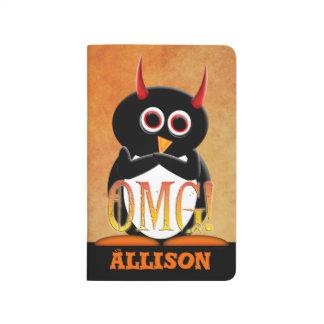 Pingüino personalizado del mal de OMG Cuaderno