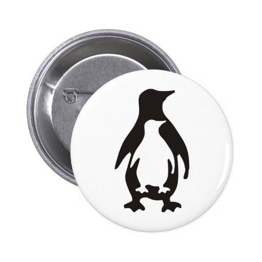 pingüino pin redondo 5 cm