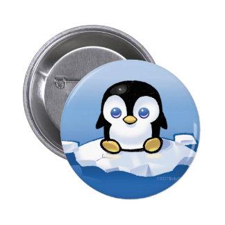 Pingüino Pin Redondo De 2 Pulgadas
