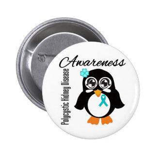 Pingüino policístico de la conciencia de la enferm