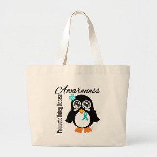 Pingüino policístico de la conciencia de la enferm bolsas de mano