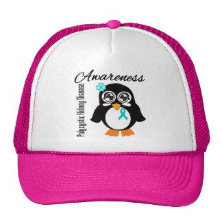 Pingüino policístico de la conciencia de la enferm gorras