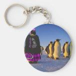 Pingüino punky llaveros personalizados
