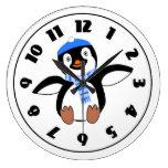 Pingüino que lleva un reloj de la bufanda
