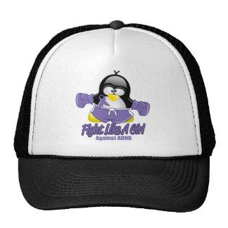 Pingüino que lucha de ADHD Gorros Bordados