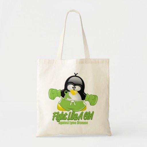 Pingüino que lucha de la enfermedad de Lyme Bolsas De Mano