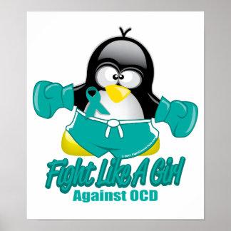 Pingüino que lucha de OCD Impresiones