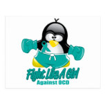 Pingüino que lucha de OCD Postal