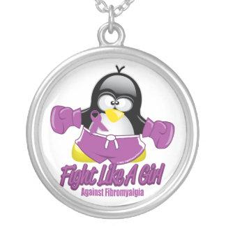 Pingüino que lucha del Fibromyalgia Colgante Redondo