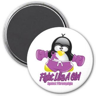 Pingüino que lucha del Fibromyalgia Imán Redondo 7 Cm
