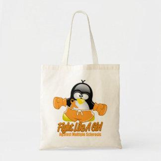 Pingüino que lucha del ms bolsa tela barata
