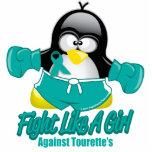 Pingüino que lucha del síndrome de Tourette Esculturas Fotográficas