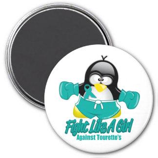 Pingüino que lucha del síndrome de Tourette Imán Redondo 7 Cm