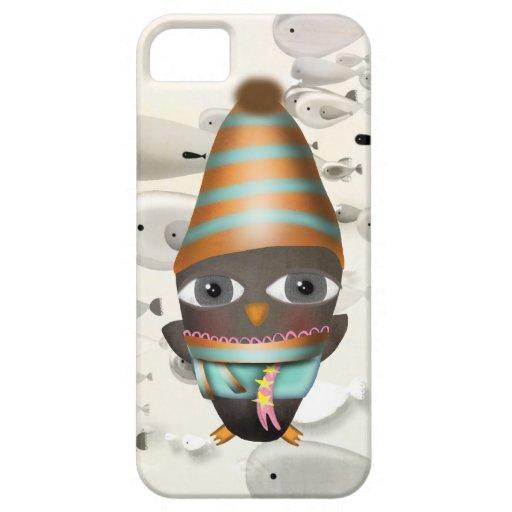 Pingüino que tiene frío iPhone 5 fundas
