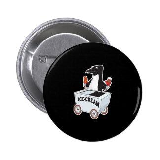 pingüino que vende el helado pin redondo 5 cm