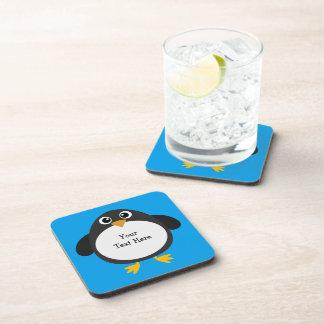Pingüino rechoncho (personalizable) posavasos de bebidas