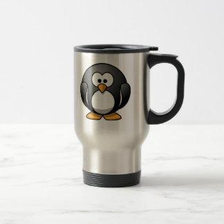 Pingüino rechoncho taza térmica