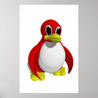 Pingüino rojo poster