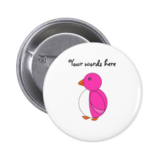 Pingüino rosado pins