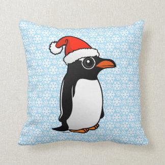 Pingüino Santa de Gentoo Cojin