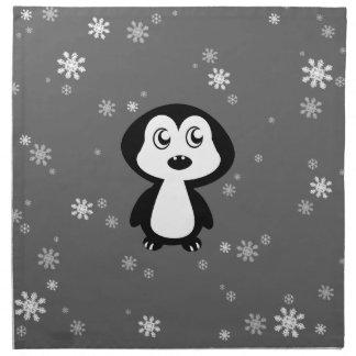 Pingüino Servilletas Imprimidas