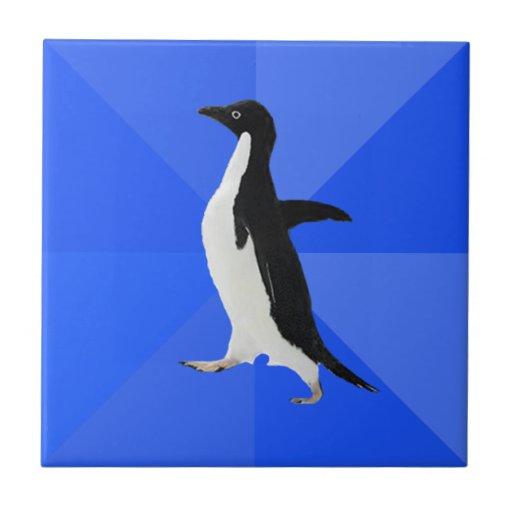 """Pingüino social torpe (""""personalizar"""" para añadir  azulejo cuadrado pequeño"""