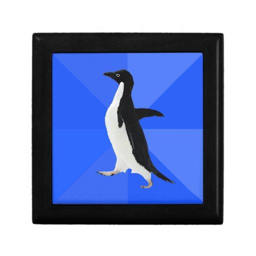 "Pingüino social torpe (""personalizar"" para añadir  cajas de joyas"