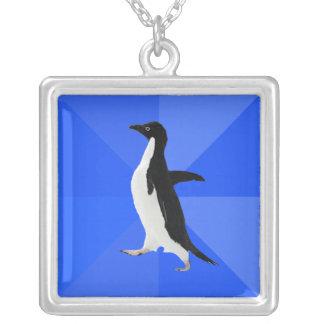 """Pingüino social torpe (""""personalizar"""" para añadir colgante cuadrado"""