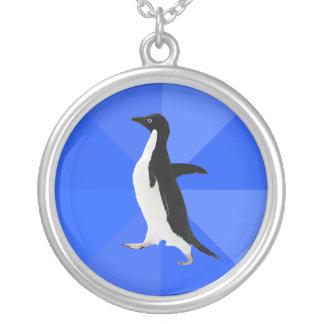 "Pingüino social torpe (""personalizar"" para añadir colgante redondo"
