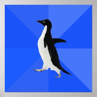 "Pingüino social torpe (""personalizar"" para añadir  poster"