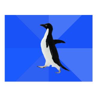 "Pingüino social torpe (""personalizar"" para añadir postal"