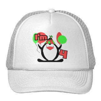 Pingüino soy 4 camisetas y regalos del cumpleaños gorras