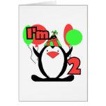 Pingüino soy dos camisetas y regalos tarjeta