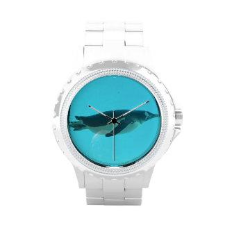 Pingüino subacuático relojes de pulsera