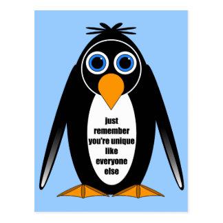 pingüino tarjetas postales